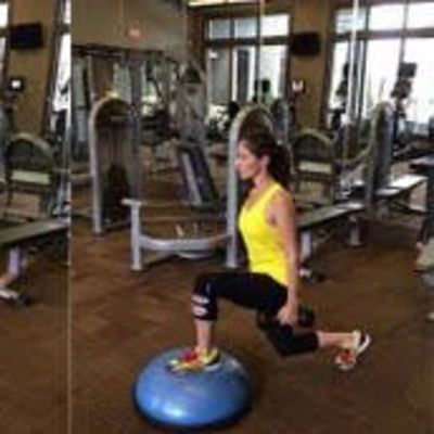 Bosu Ball Dumbbell Reverse Lunge