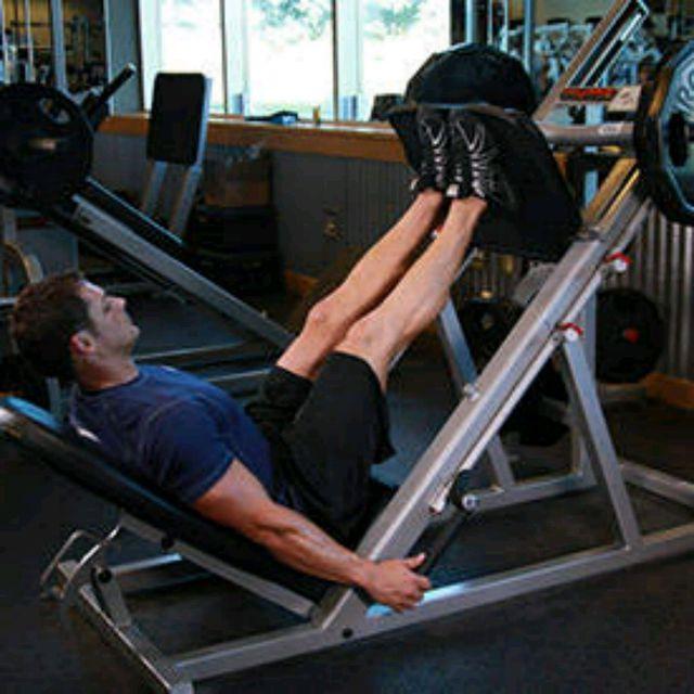How to do: Leg Press Feet Close - Step 1