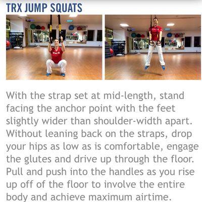 TRX Jump Squats