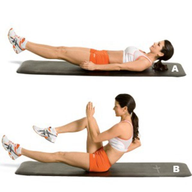 How to do: Sprinter Crunch - Step 1