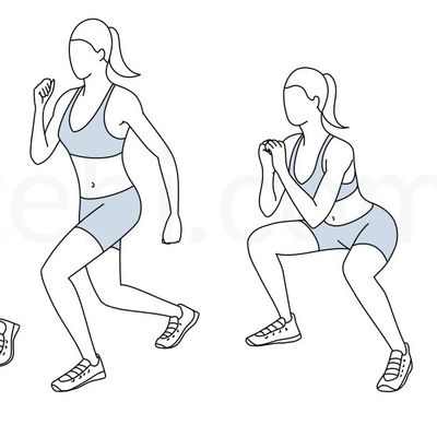 Flutter Kick Squats