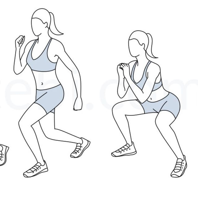 How to do: Flutter Kick Squats - Step 2