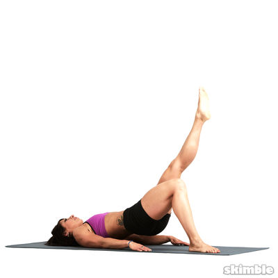 Left Bridge Glute Circles