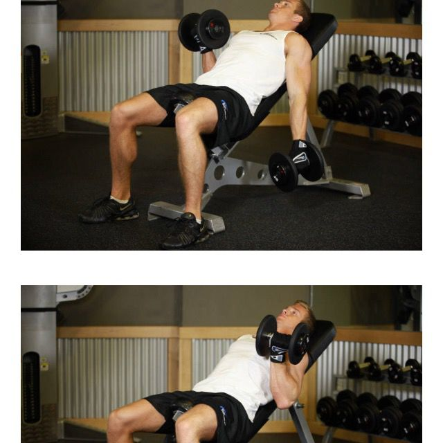 How to do: Alt Incline Db Curl - Step 1