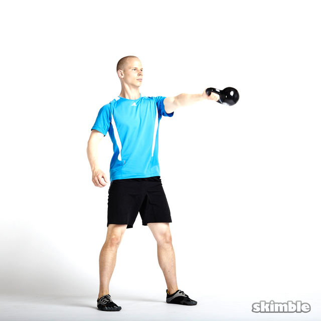 How to do: Left Arm Kettlebell Swings - Step 4