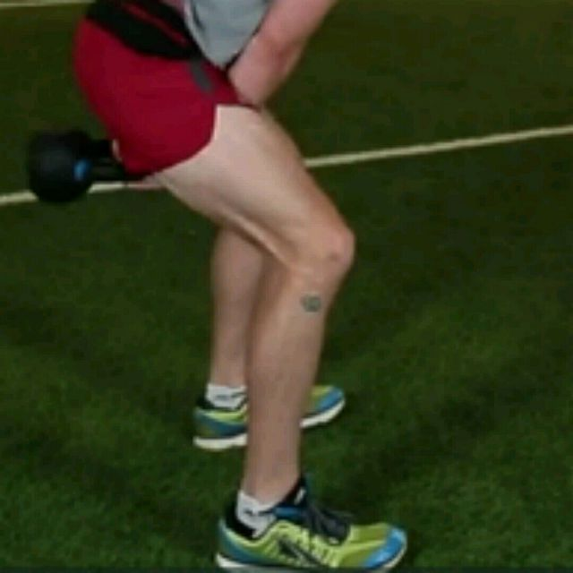 How to do: Kettlebell Swings (mine) - Step 2