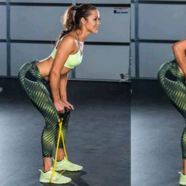 How to do: Bent Over Rows W/Band - Step 1
