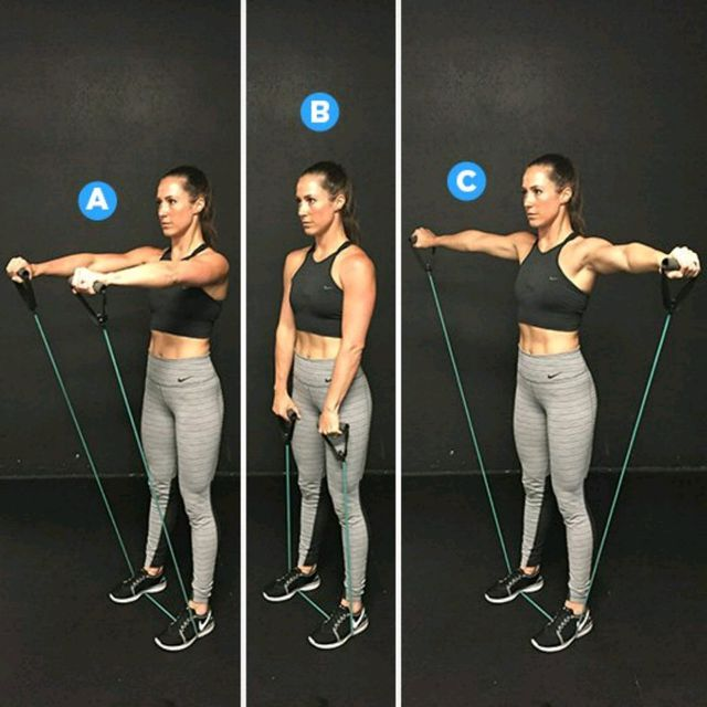 How to do: Front & Lateral Shoulder Raise - Step 1