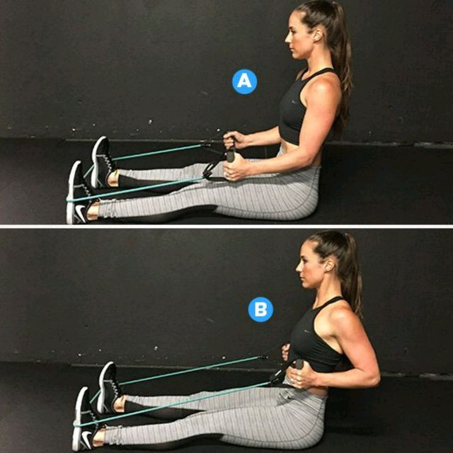 How to do: Seated Row - Step 1