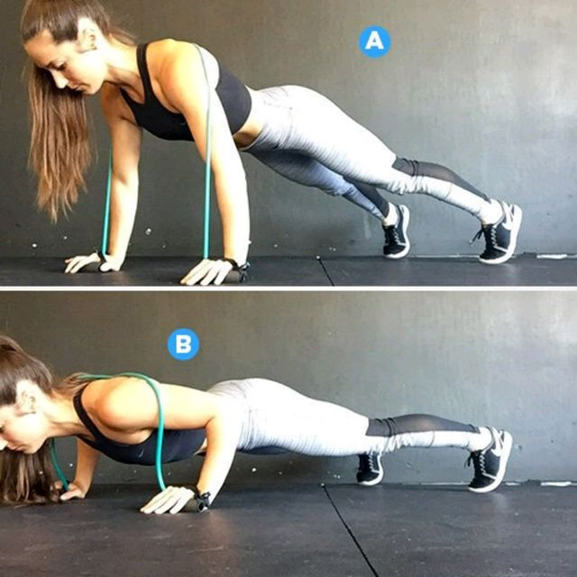 How to do: Resisted Push Ups - Step 1