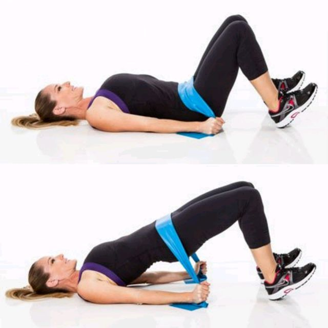 How to do: Hip Bridge - Step 1