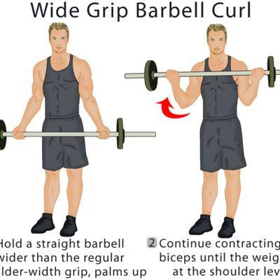 Wide-grip Curl