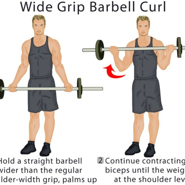 How to do: Wide-grip Curl - Step 1