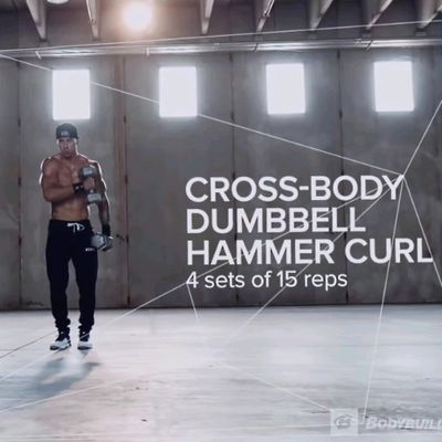 Cross Body Dumbbel Hammer Curl