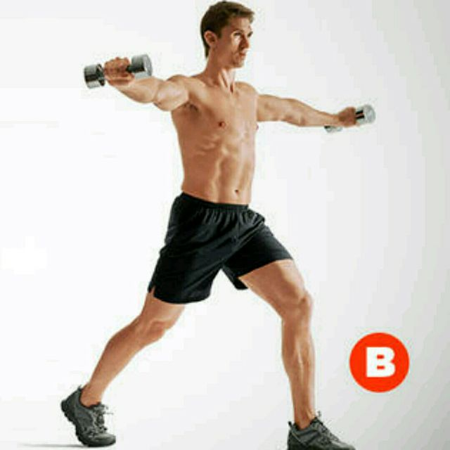 How to do: Lunge With Lateral Raise - Step 2