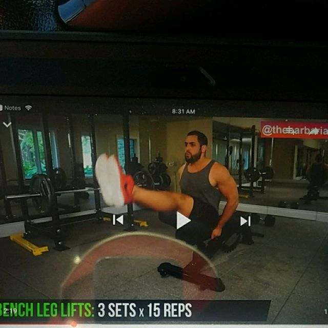 How to do: Bench Leg Lifts - Step 1