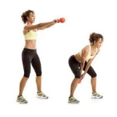 Explosive Wide Leg Kettlebell Swings