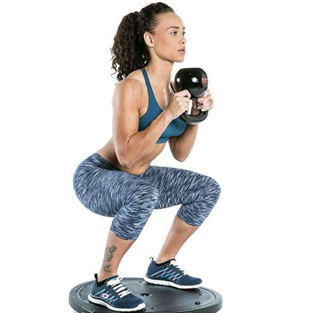 How to do: Bosu Upside Down Goblet Squat - Step 1