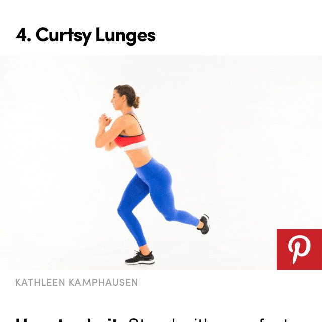 How to do: Curtsy Lunge With Kick - Step 1