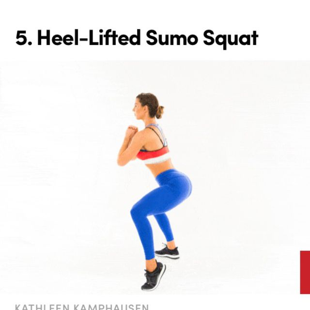 How to do: Heel Lifted Sumo Squat - Step 1