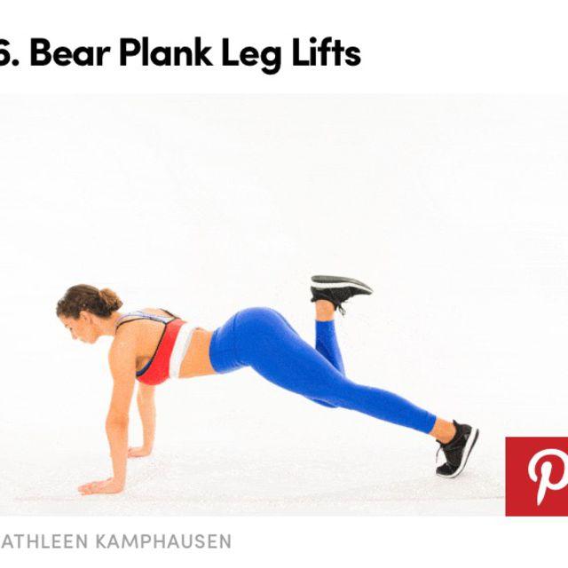 How to do: Bear Plank Leg Lift - Step 1