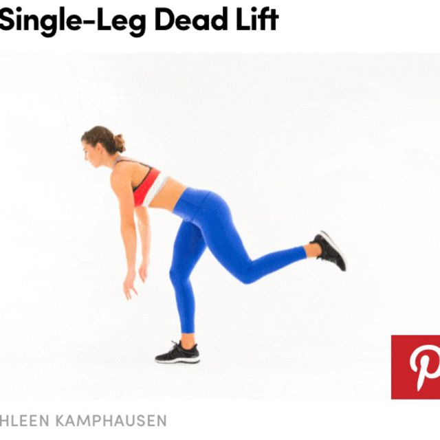 How to do: Single Leg Deadlifts - Step 1