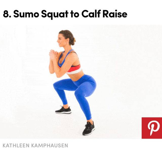 How to do: Sumo Squat To Calf Raise - Step 1