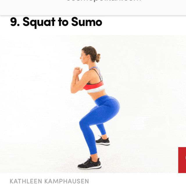 How to do: Sumo Squats  - Step 1