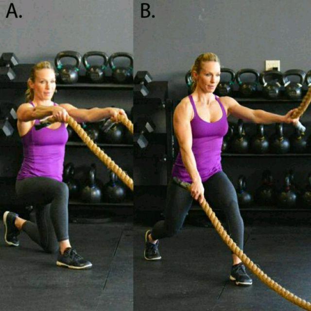 How to do: Alternating Split Squat Wave - Step 1