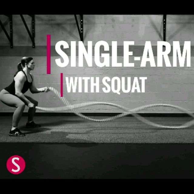 How to do: Single-Arm Wave With Squat - Step 1