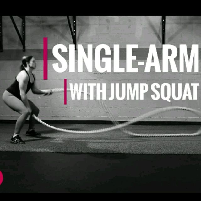 How to do: Single Arm Wave With Jump Squat - Step 1