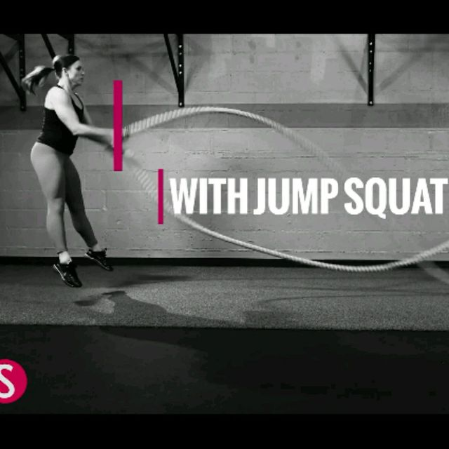 How to do: Single Arm Wave With Jump Squat - Step 4