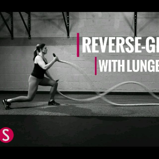 How to do: Reverse Grip Wave With Lunge - Step 1