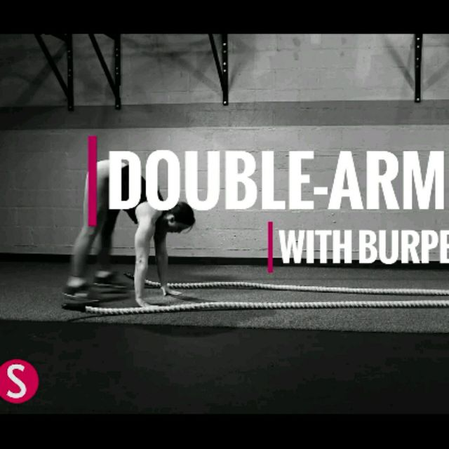 How to do: Double Arm Wave With Burpee - Step 2