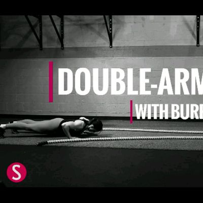 Double Arm Wave With Burpee