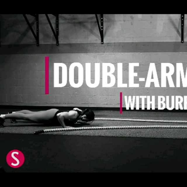 How to do: Double Arm Wave With Burpee - Step 3