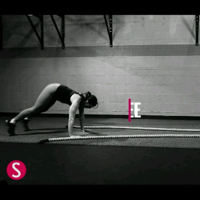 How to do: Double Arm Wave With Burpee - Step 4