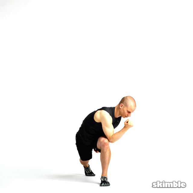 How to do: Lunge with Side Tilt Rotations - Step 3