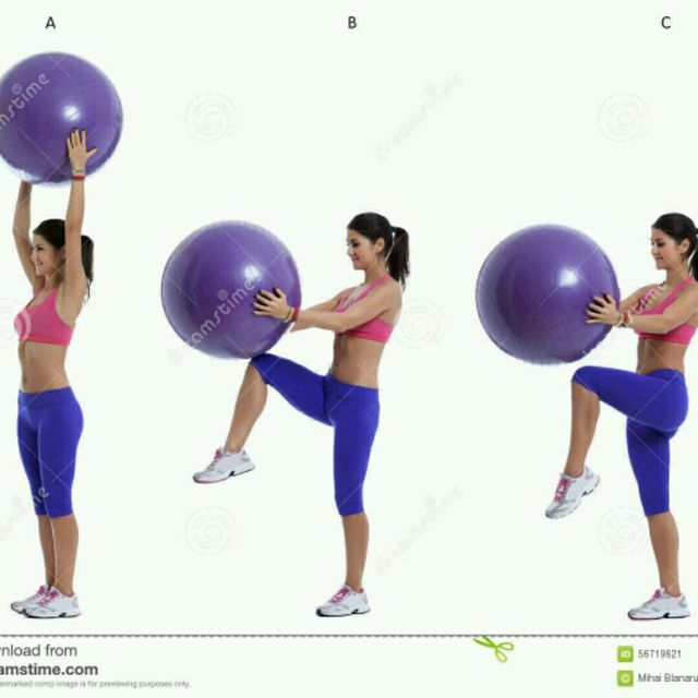 How to do: Stability Ball High Knees - Step 1