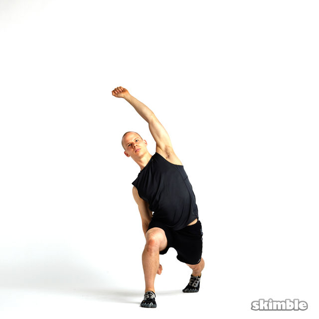 How to do: Lunge with Side Tilt Rotations - Step 6