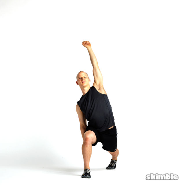 How to do: Lunge with Side Tilt Rotations - Step 8