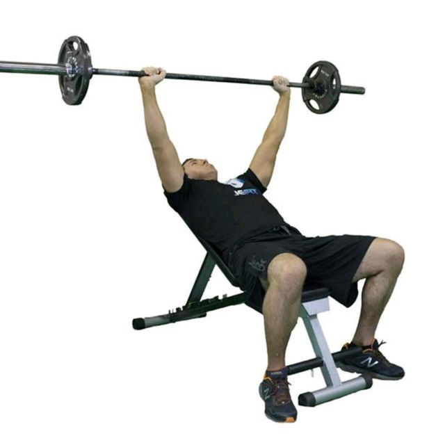 Barbell Press Dumbbell Press: Barbell Incline Bench Press.