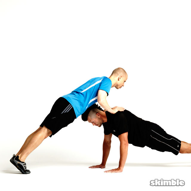 How to do: Partner Plank Push-Ups - Step 2