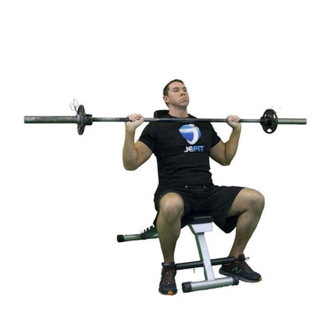 Barbell Press Dumbbell Press: Barbell Shoulder Press (Seated)