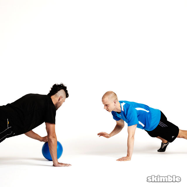 How to do: Plank Ball Pass with Partner - Step 6