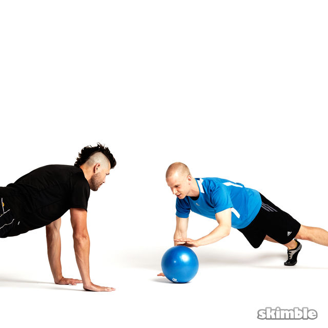 How to do: Plank Ball Pass with Partner - Step 5
