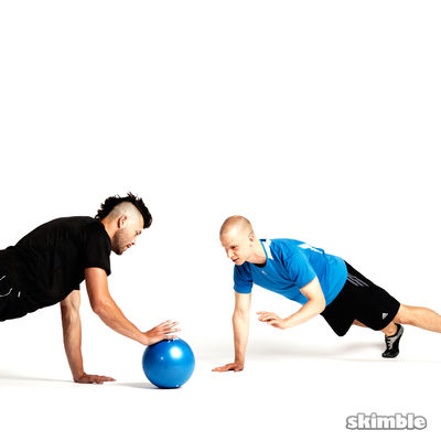 Plank Ball Pass with Partner