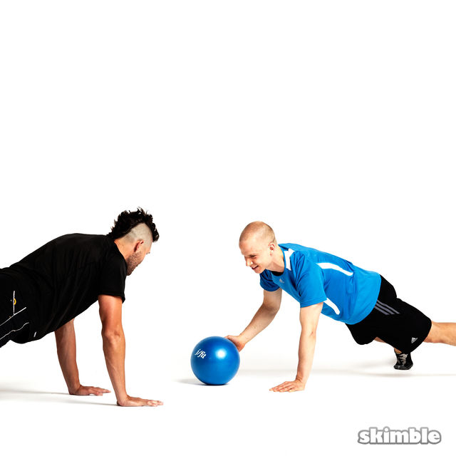 How to do: Plank Ball Pass with Partner - Step 3