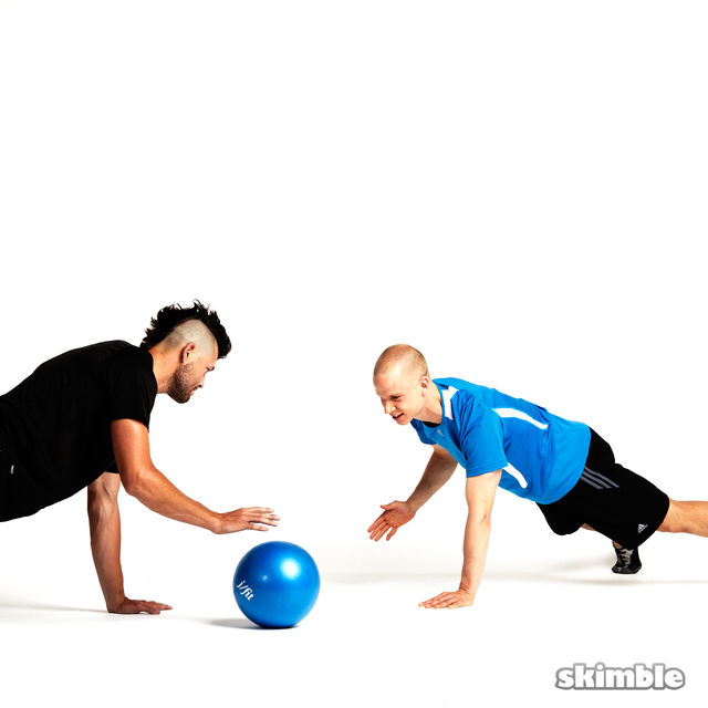 How to do: Plank Ball Pass with Partner - Step 2