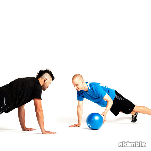 How to do: Plank Ball Pass with Partner - Step 1